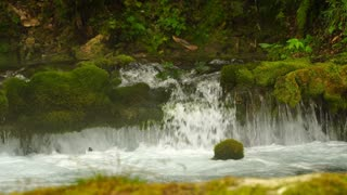 Footage source of water in the mountain. 4K