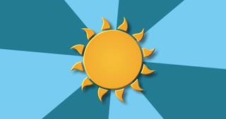 modern rotation sun background.