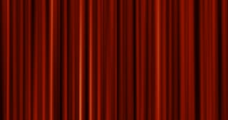 opening red curtain from the fabric