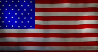 USA flag fabric texture waving in the wind.