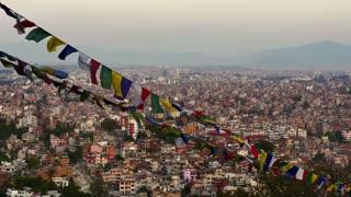 4K Video Cityscape view of Kathmandu city, Nepal