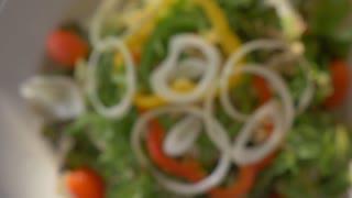 Close up healthy food fresh tuna salad
