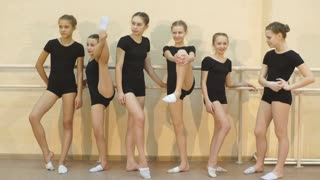 a group of dancers after classes