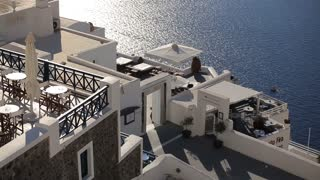 Beautiful views of Santorini and the Aegean Sea