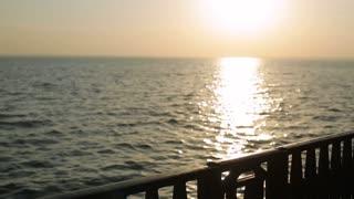 Girl dream on the sunset