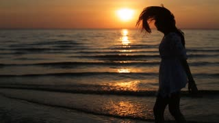 Girl posing at the sunset,girl having fun in the sunset