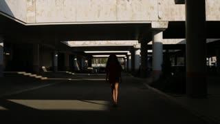 girl posing in the shadow