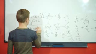 happy schoolboy decided example on the Board
