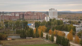 panorama of the city Togliatti with 20 floors