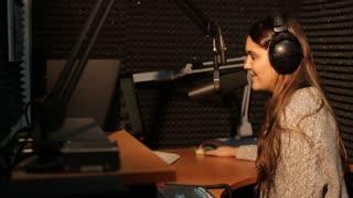 Radio DJ in studio