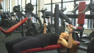 sport, fitness, sporty woman hands with light dumbbells