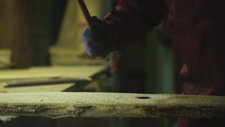 the process of working wood