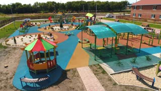 children's Playground in the modern village