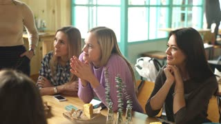 group of girls at Breakfast