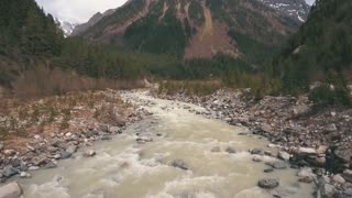 mountain river,shooting with the drone