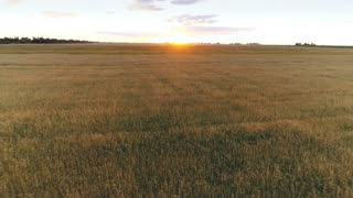 Panorama Top view Aerial photo from flying drone . Top view beautiful Sunset