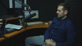 radio dj man indoor at radio studio
