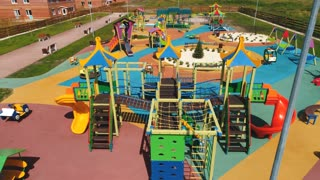top view of a big kid games playground