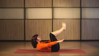 woman pilates exercises fitness