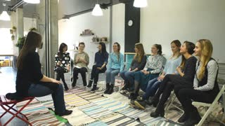 women sitting in a circle counseling