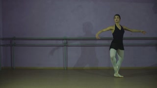 young ballerina dances a beautiful dance