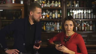 young handsome man wants to meet a nice woman in a bar