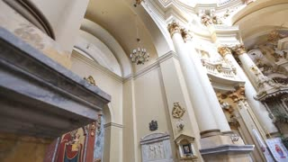 Amazing church in Lviv close up