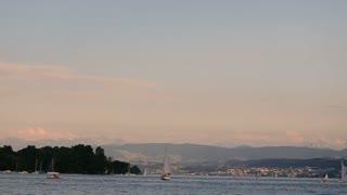 Beautifull panorama in Switzerland close up