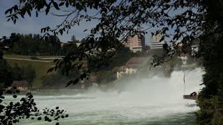close shot on big beautiful waterfall