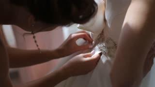 Designer correct amazing dress before the wedding