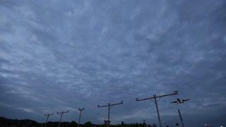 Plane flying against the sky