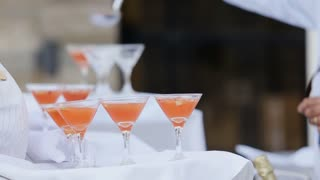 punch is poured into glasses