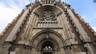 Rose window and main church entrance