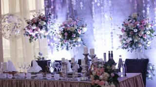 very well decorated wedding tables