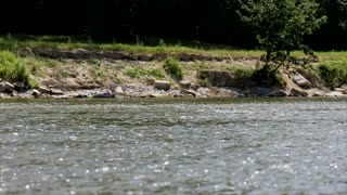 water flowing in the river