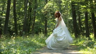 Woman Spinning Dress Slow Motion Nature Sun Forest Happiness