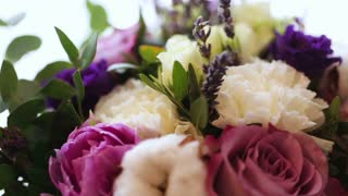 Beautiful wedding bouquet of flowers for the big wedding ceremony .