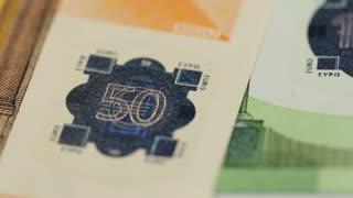 hologram in euro money