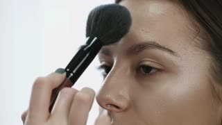 Makeup. Cosmetic. Base for Perfect Make-up. Applying Make-up