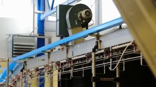 Modern conveyor belt on automated system