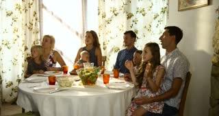 Multi Generation Family Celebrating Thanksgiving