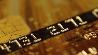 Credit Card Debit Card Smart Card. Macro tracking shot over bank card number