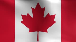 Canadian Flag Blowing in the Wind Motion Graphics