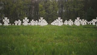 Cemetery of white military crosses 5