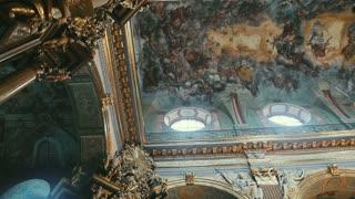 Old architectural church interior