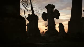 Old Graveyard with Ancient Crosses 9