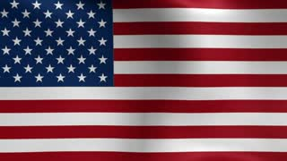 USA Flag Blowing in the Wind Motion Graphics