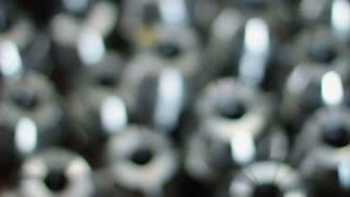 Closeup metal workpiece. Metal parts closeup. Metallic details. Group of metal items
