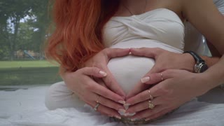 Casually, heart hands on pregnant belly opinion you