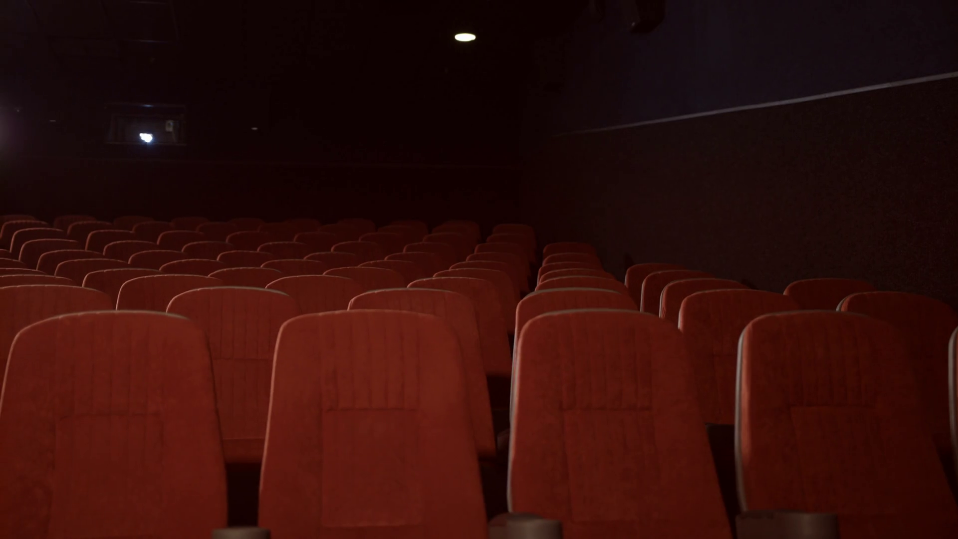 Empty Seats In Cinema Theatre Red Seats In Movie Theatre Empty Theatre Hall With Red Armchairs Cinema Hall With Chairs Is Ready For Visitors Stock Video Footage Storyblocks